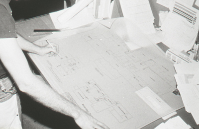 Exhibition plans, 1983, Photo: Paul Macapia