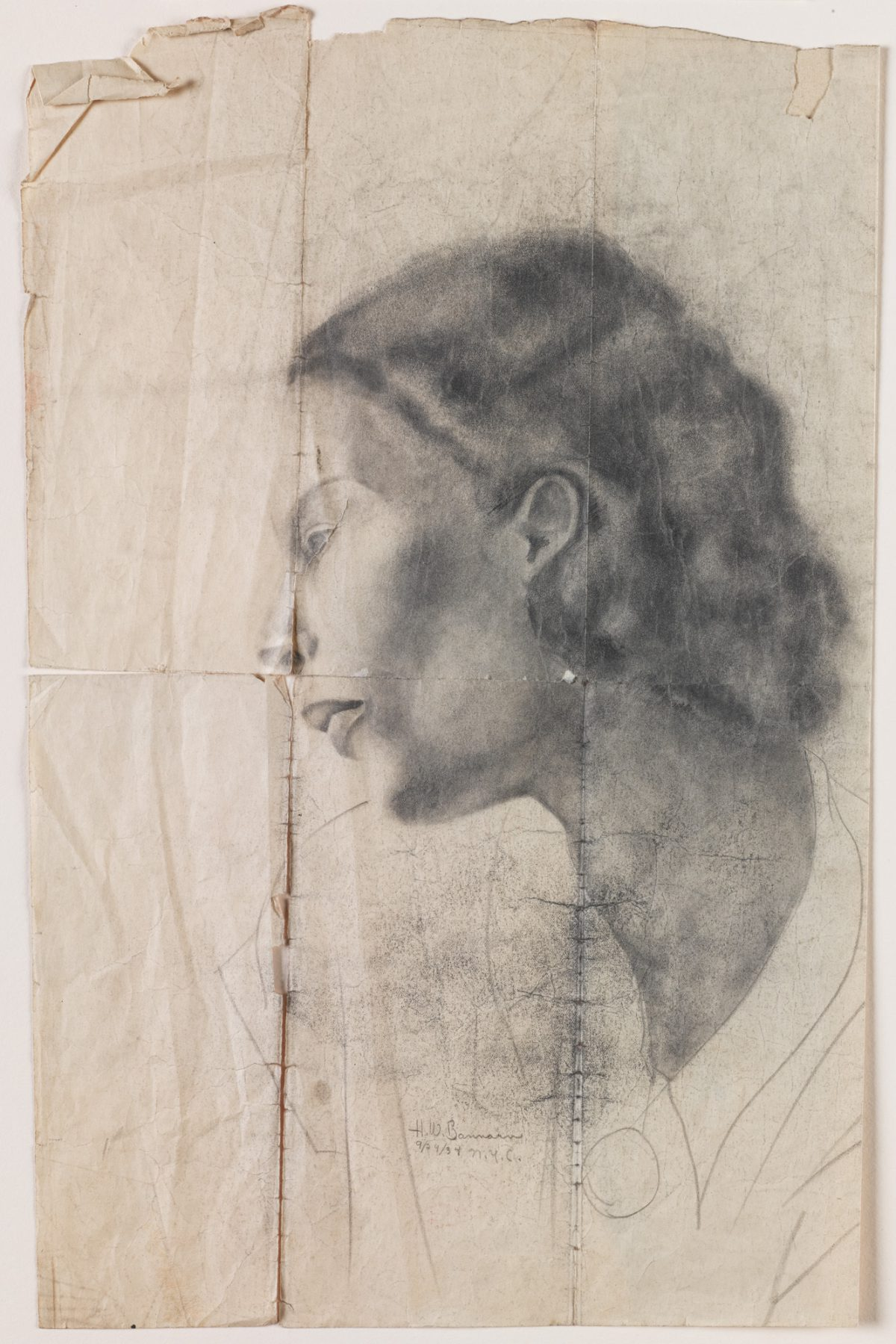 Object of the Week: Portrait Drawing of Gwendolyn Knight