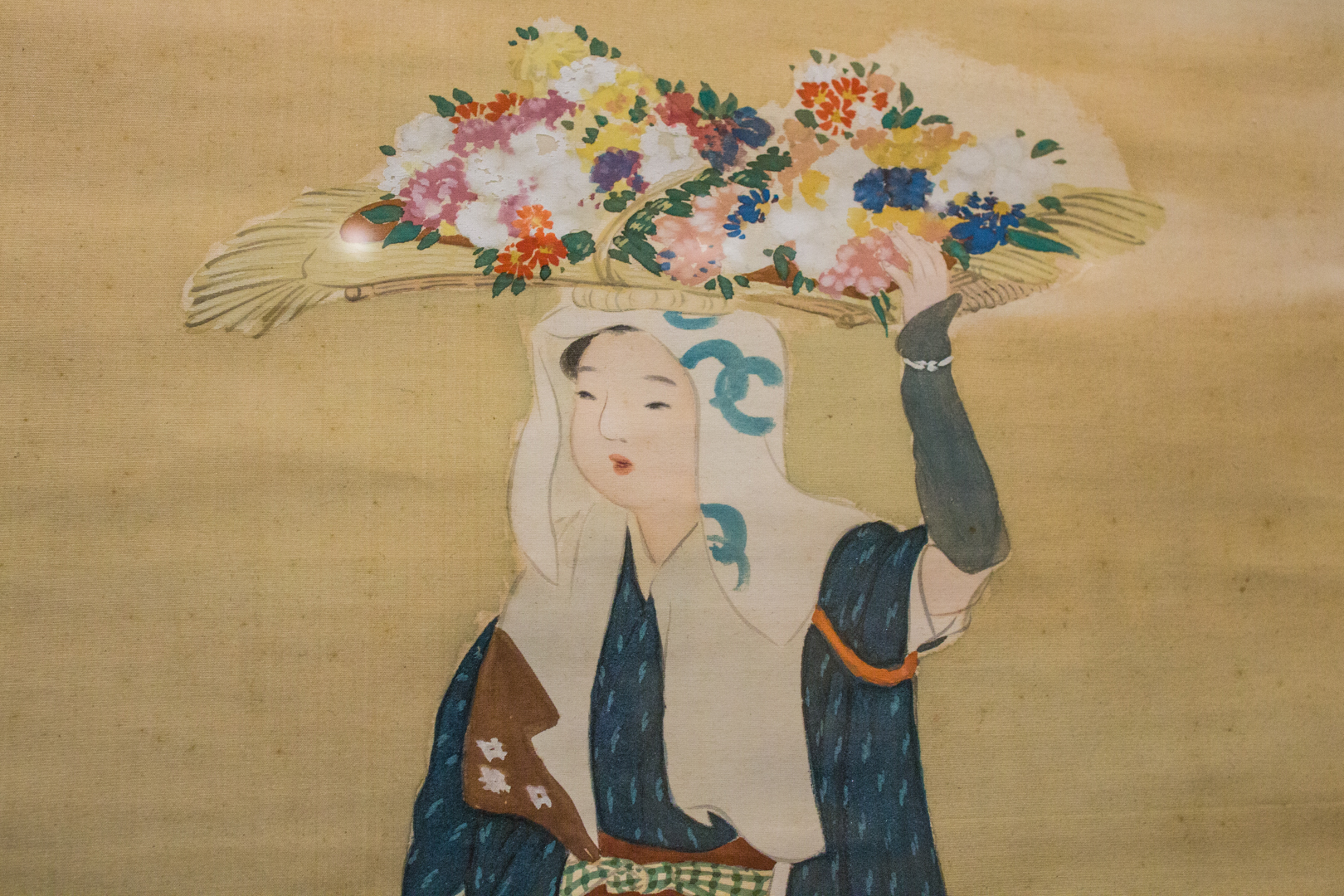 Woman Selling Flowers (detail)