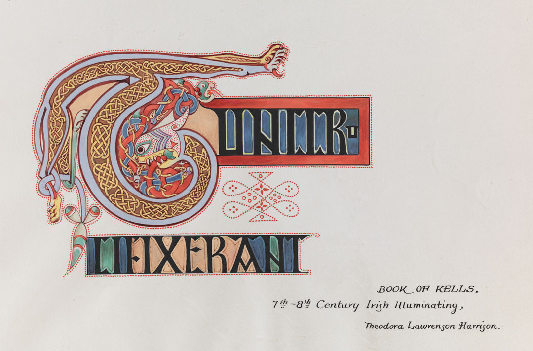 Object of the Week: Illumination from the Book of Kells