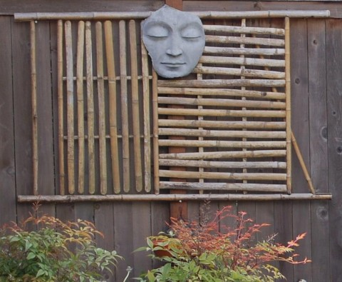 Bev Falgione: Every morning it reminds me to breathe and take a moment for myself. (Adding texture and serenity to an otherwise harsh cedar fence)