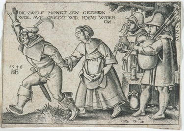 """The Year's End"", from The Twelve Months, first half 16th century, Hans Sebald Beham, German, 1500-1550, print, Manson F. Backus Memorial Collection, 35.291.5. Not currently on view."