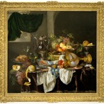 """Banquet Still Life"", ca. 1653–55, Abraham van Beyeren, Dutch, ca. 1620/21–1690, oil on canvas, 42 1/8 x 45 1/2 in. (107 x 115.5 cm), Seattle Art Museum, Samuel H. Kress Collection, 61.146, Photo: Eduardo Calderón"