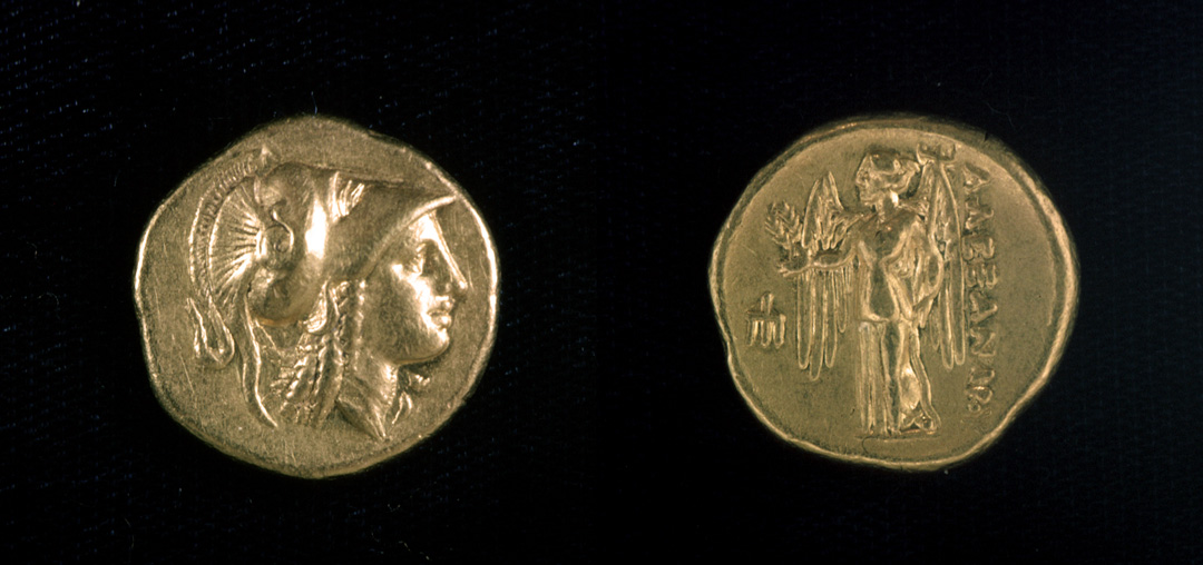 Attic Stater with Athena in Corinthian Helmet and Nike