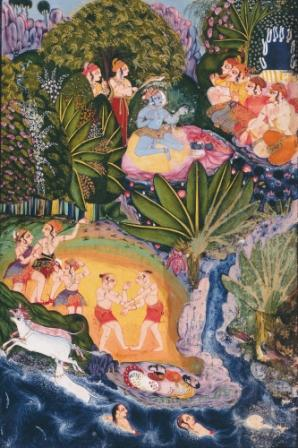 Link to Luminous Labels: Krishna in a Garden Labels
