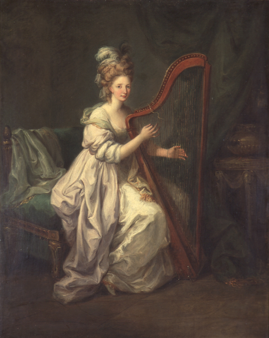 Object of the Week: Woman Playing a Harp