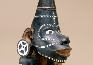 Canoe prow figure (Nguzu Nguzu), 19th century, Solomon Islands, Melanesian, wood, nautilus shell, 10 5/8 x 7 7/8 x 5 in., Gift of Katherine White and the Boeing Company, 81.17.1443. Currently on view in the Oceanic art gallery, third floor, SAM downtown.