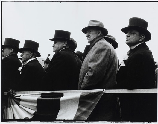 City Fathers, Hoboken, N.J., 1955, Robert Frank, American, born 1924, gelatin silver photograph, 14 3/4 x 18 7/8 in., Pacific Northwest Bell, the Photography Council, the Polaroid Foundation, Mark Abrahamson, and the National Endowment for the Arts, 84.116. © Robert Frank. Not currently on view.