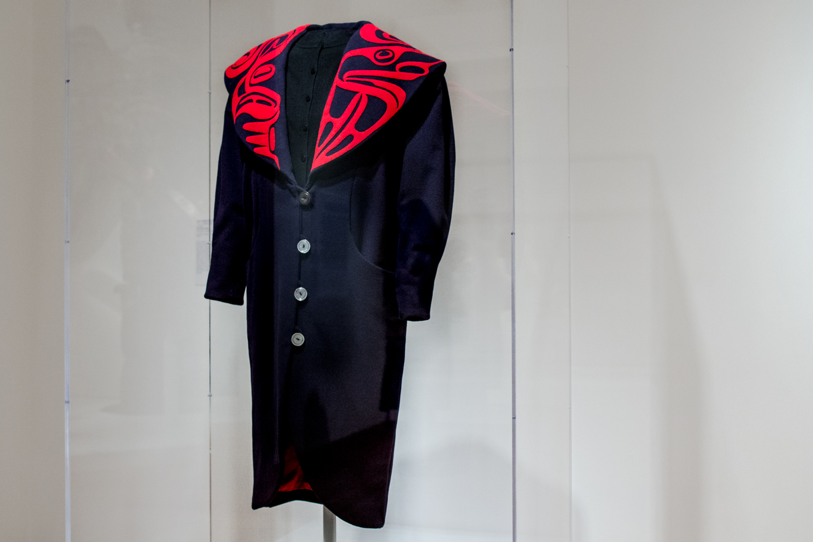 Eagle Shawl Collar Coat by Dorothy Grant at Seattle Art Museum