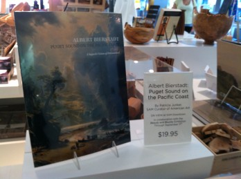 "Rather than a traditional exhibition catalogue, SAM's ""Beauty & Bounty"" show will be accompanied by a book that outlines new research from Seattle Art Museum curator Patricia Junker. The book is titled ""Albert Bierstadt's Puget Sound on the Pacific Coast: A Superb Vision of Dreamland"" and is available in the SAM Shop."