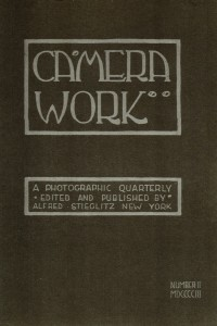 Cover of Camera Work, Issue No 2, April 190, published by Alfred Stieglitz and designed by Edward Steichen.