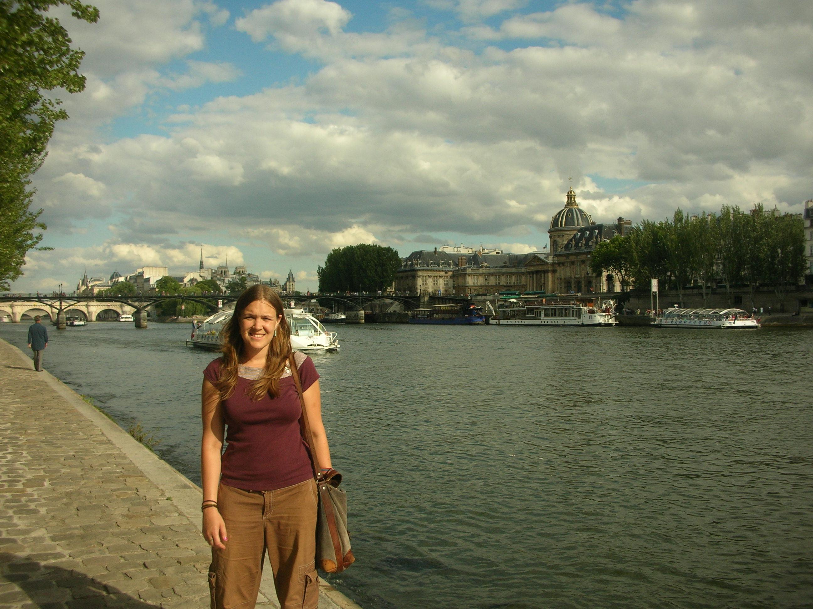 Seattle Art Museum intern Sarah Lippai in Paris