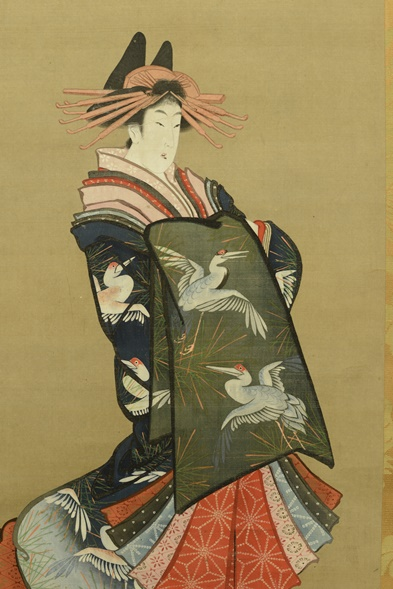 Ukiyoe, Figure of a woman, Eugene Fuller Memorial Collection, 33.1689. The Mellon conservation survey provides unprecedented documentation and new photography of works like this that hail from the earliest days of the collection