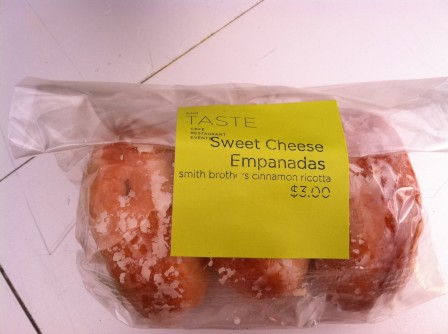 Sweet cheese empanada doughnuts from TASTE Restaurant at the Seattle Art Museum's Olympic Sculpture Park