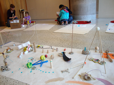 The creation of a collaborative installation asked children to consider the choices of others as well as their own. Photo: Nate Herth