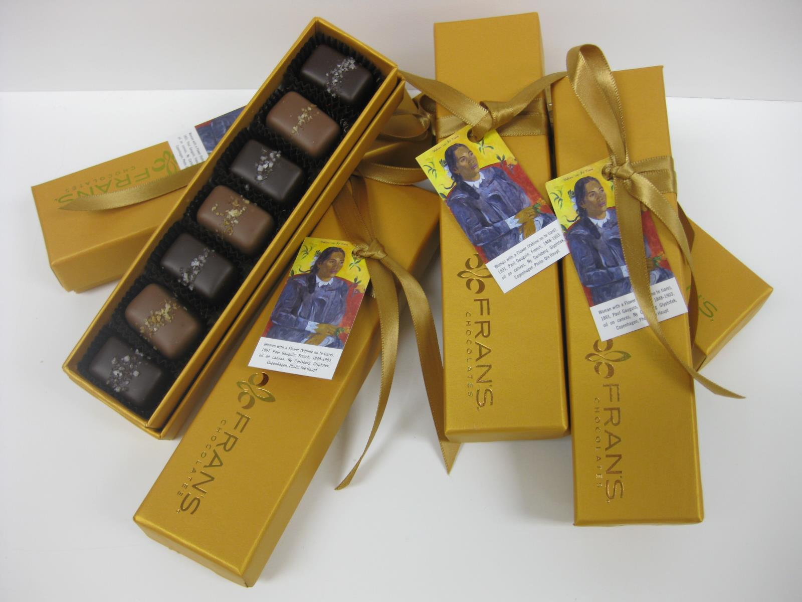 Gauguin Gray and Smoked Salt Caramels by Fran's Chocolates