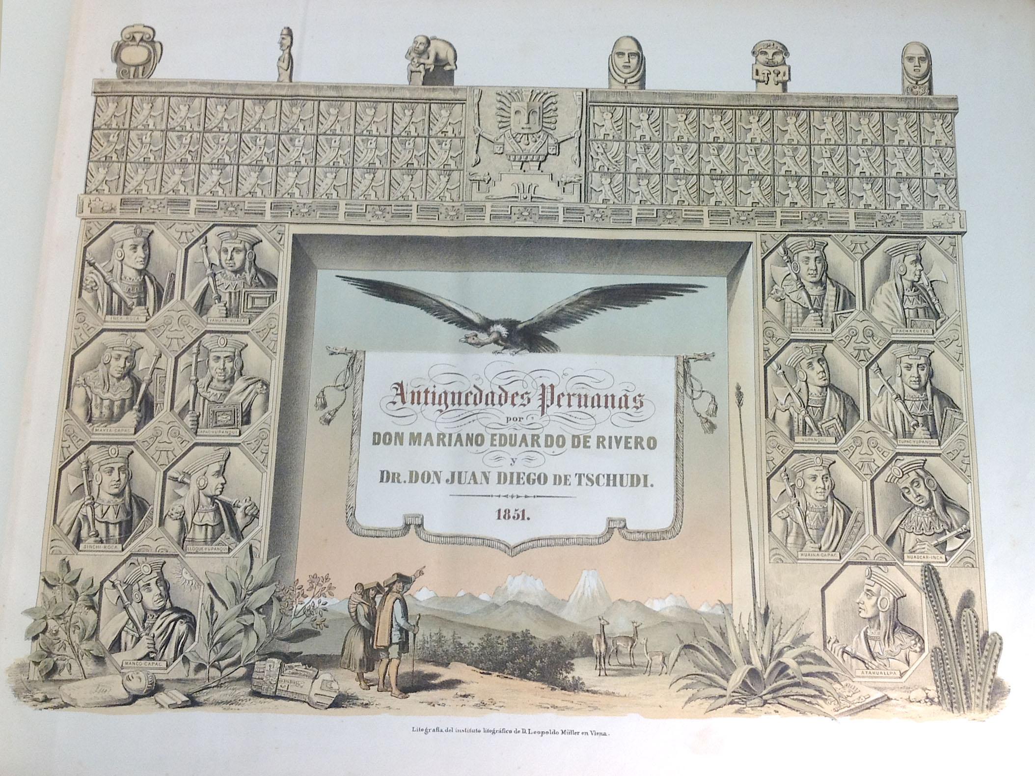 Rare Peruvian Book on View: Antigüedades Peruanas, 1851