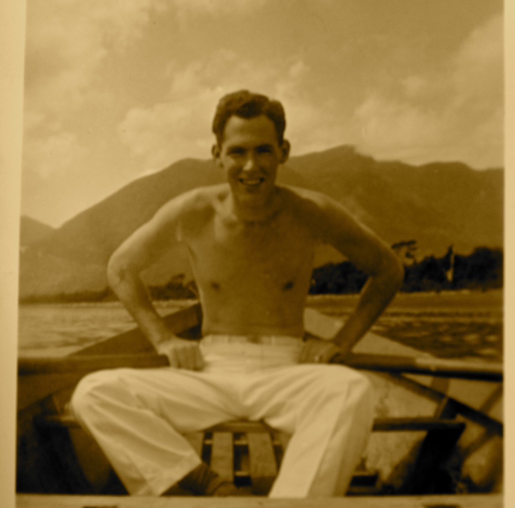 Sheelagh's father on Lake Titicaca, 1940