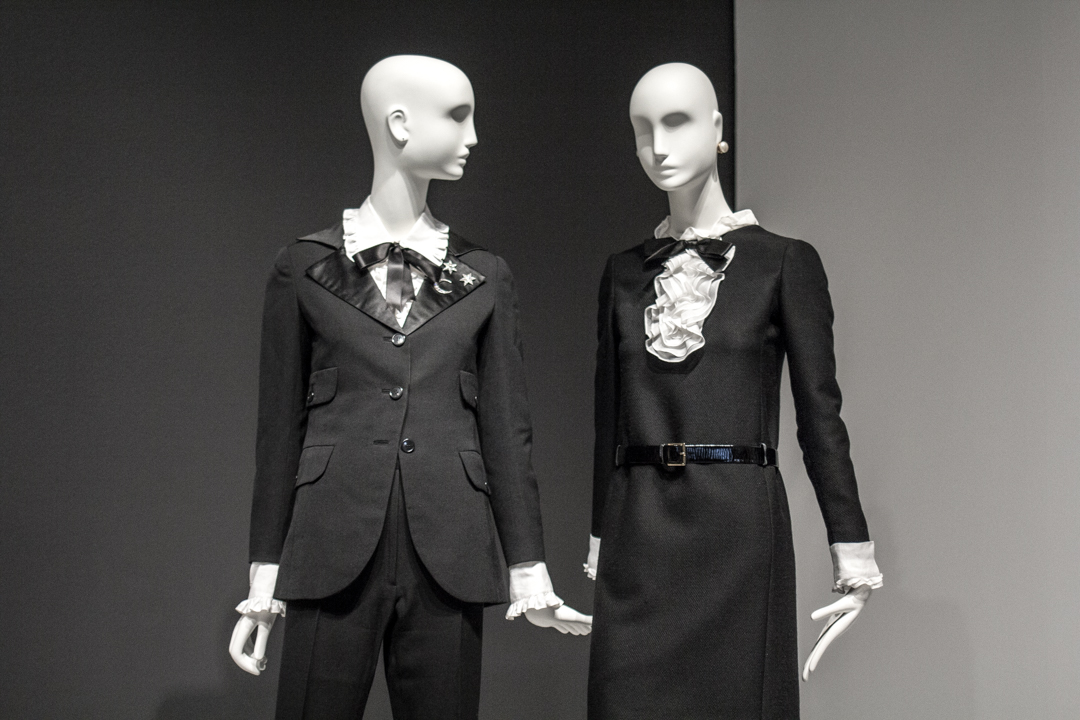 The Genders - Installation view of Yves Saint Laurent: The Perfection of Style at Seattle Art Museum