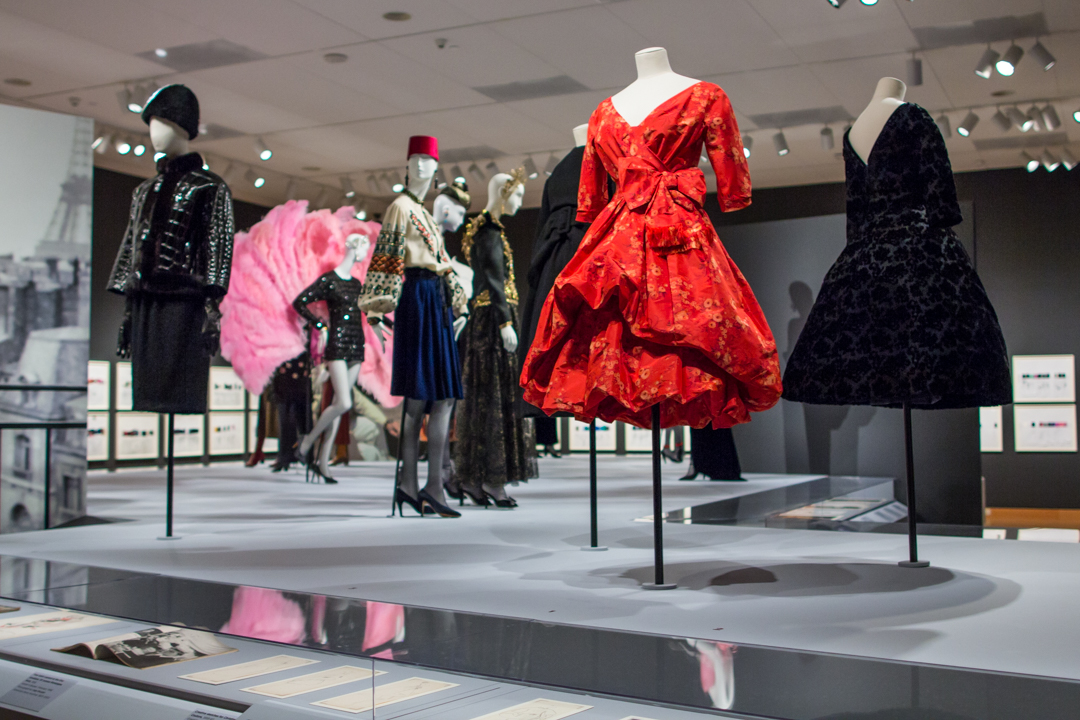 The Little Prince of Fashion - Installation view of Yves Saint Laurent: The Perfection of Style at Seattle Art Museum
