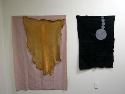 View of works in Heide Hinrichs' Studio