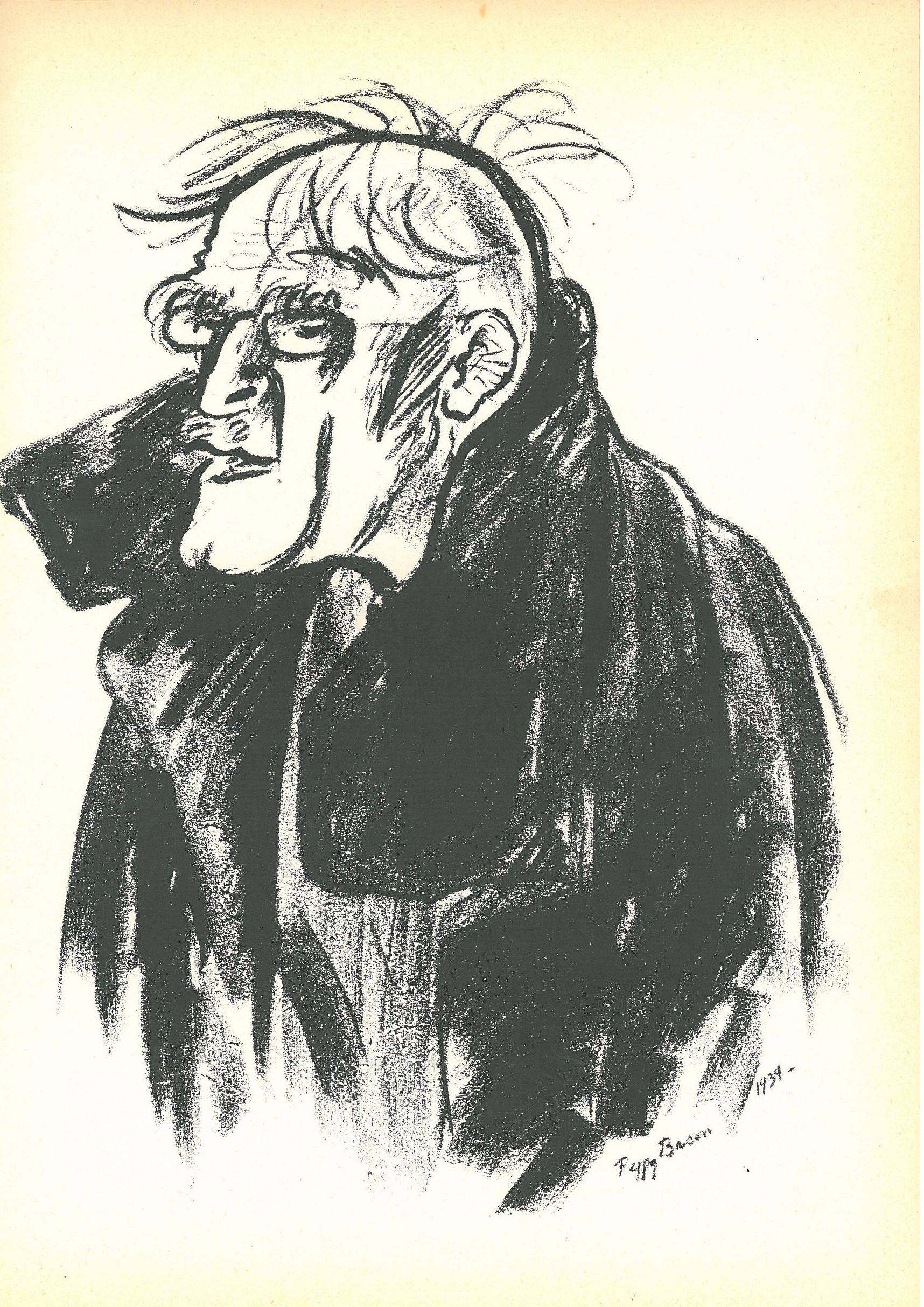 From Peggy Bacon's book of caricatures, 1934, her drawing of photographer and gallery founder Alfred Stieglitz