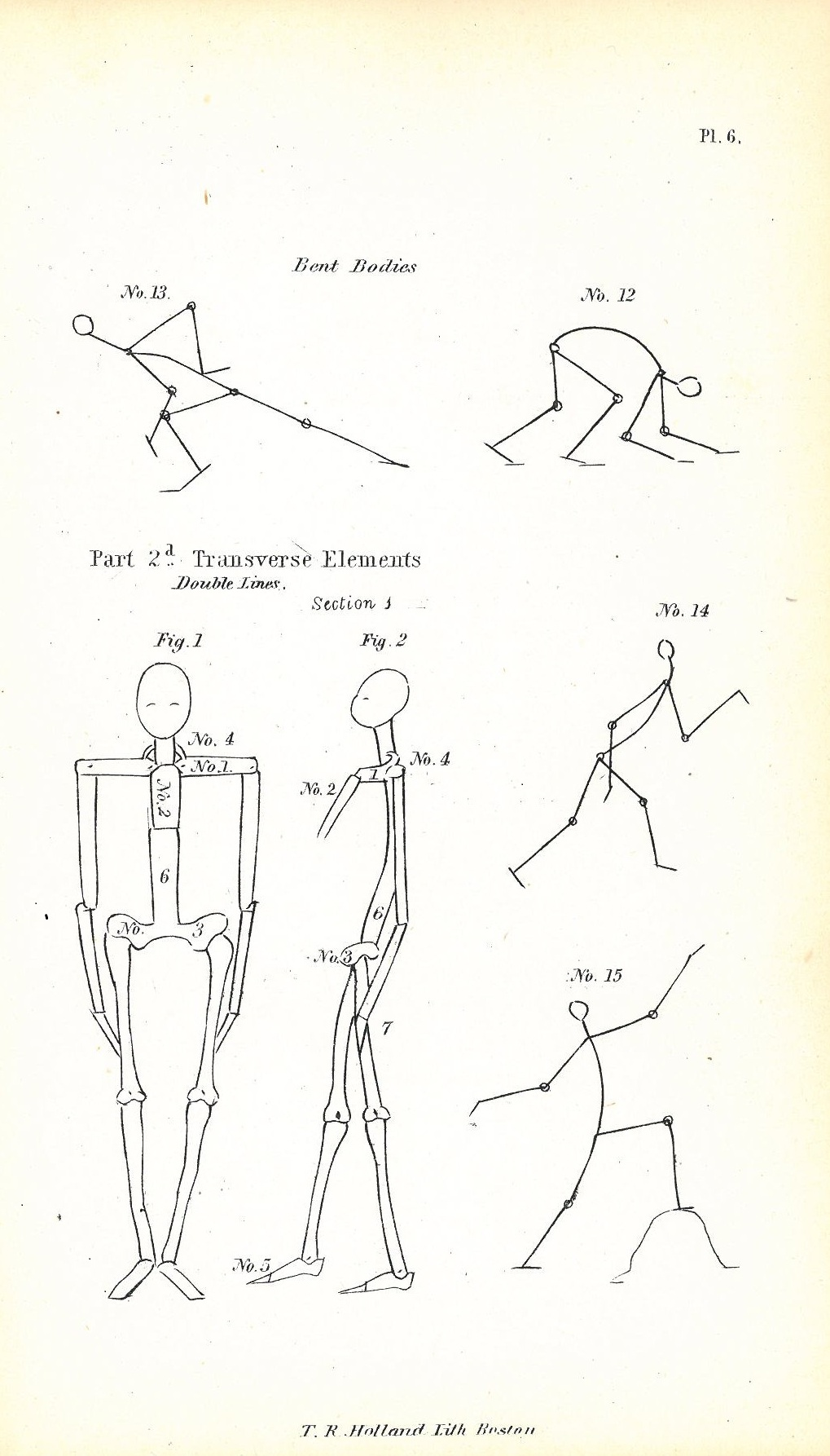 A page from William Rimmer's drawing book, published 1864
