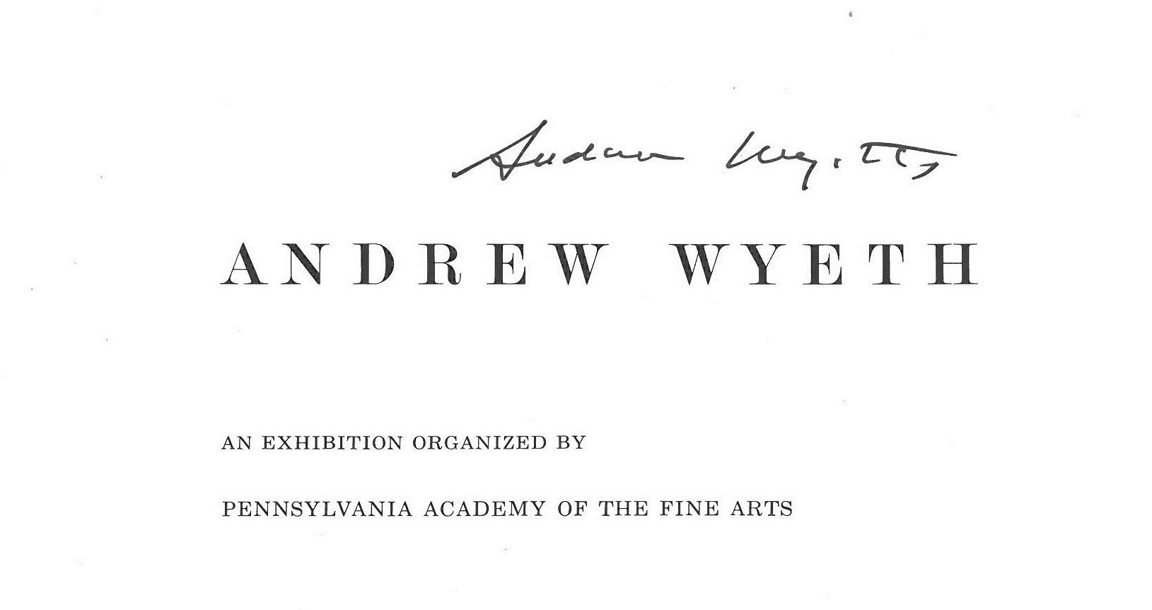 Andrew Wyeth's autograph