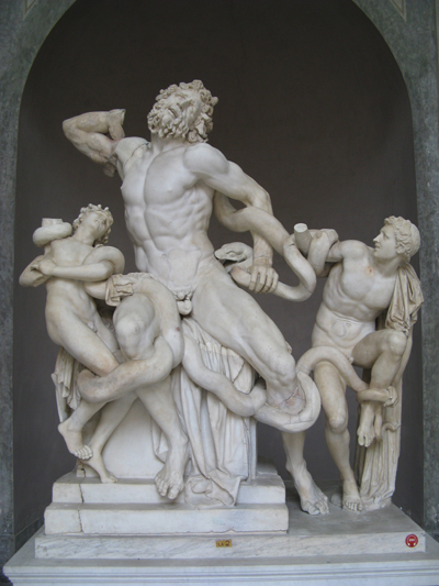 <i>Laocoön</i>, ca. 200 BCE,  Photo: Yair Haklai