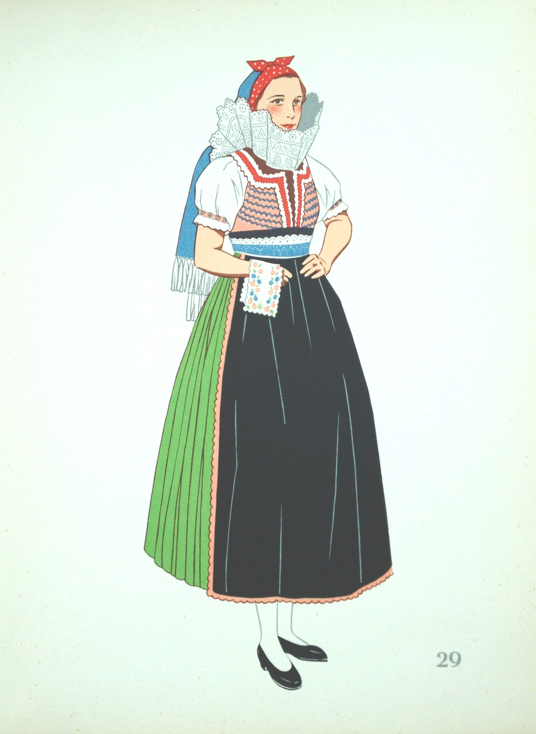 Plate 29: Dress as Worn in Uhersky Brod, Slovakia.