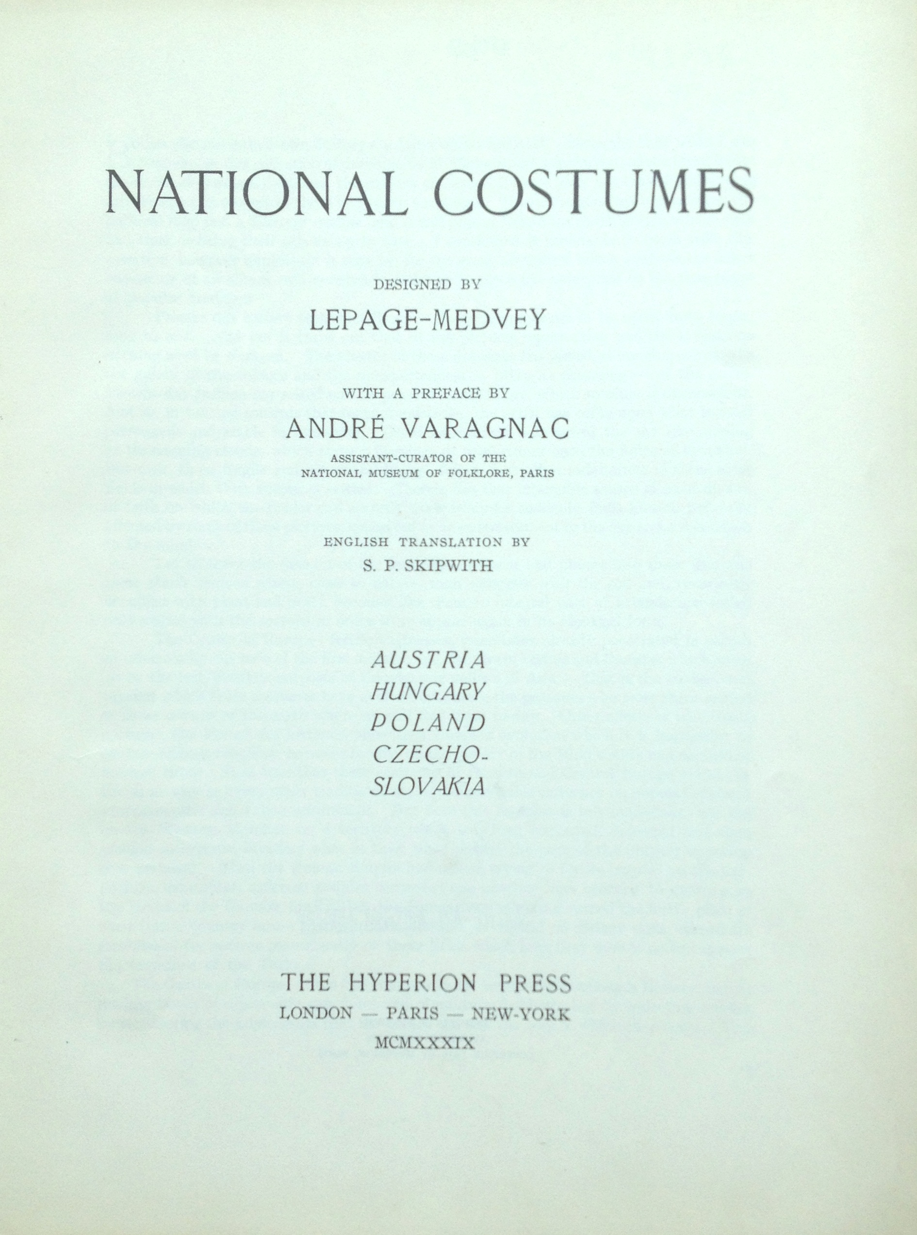 Lepage-Medvey Title Page
