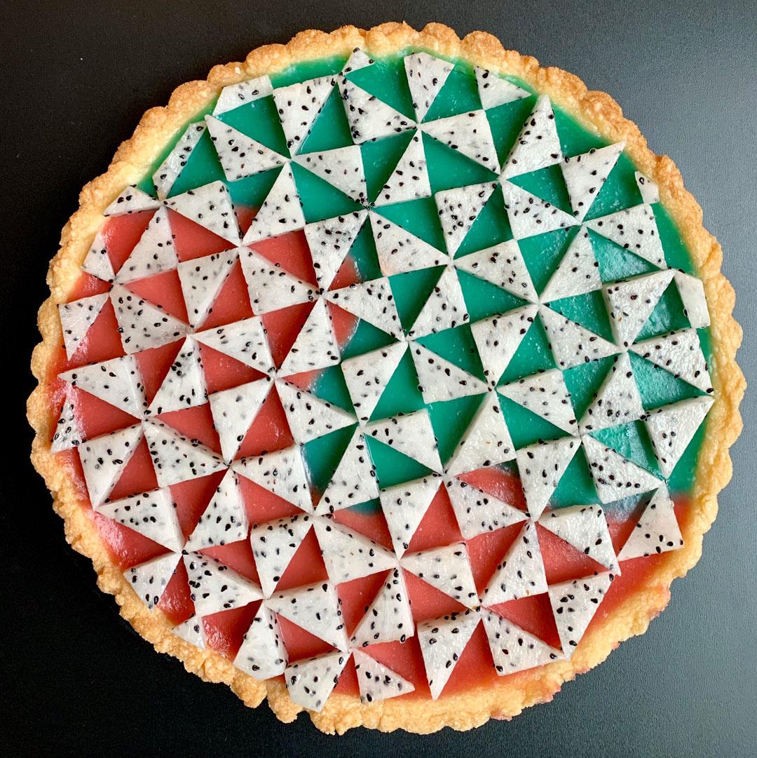 Instagram-Famous Baker Lauren Ko Creates a Pie Inspired by Jeffrey Gibson's Art