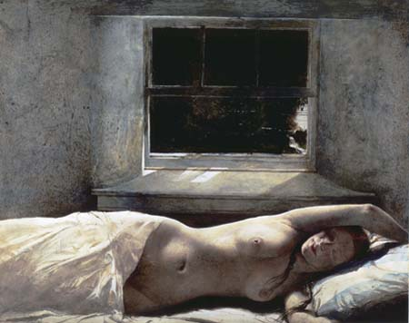 <i>Overflow</i>, 1978, Andrew Wyeth, American, 1917 – 2009, watercolor (drybrush) on paper, 23 x 29 in. Private Collection