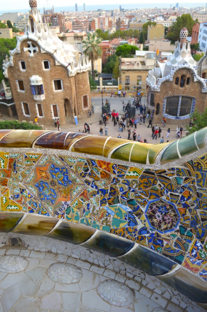 View from Güell Park, Barcelona designed by Catalan architect Antoni Gaudí. Photographer: Gabriela Ayala