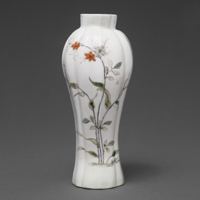 Fluted Vase, 1962. English, Worcester. Seattle Art Museum, Kenneth and Priscilla Klepser Porcelain Collection, 94.103.1