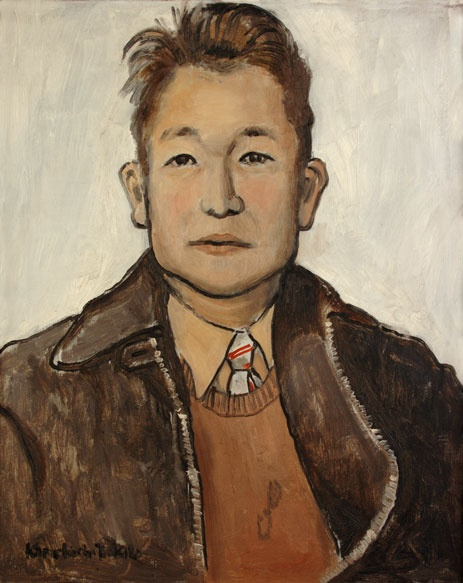 "Kamekichi Tokita Self-Portrait in ""Painting Seattle"" exhibition at the Seattle Asian Art Museum"