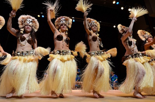 On March 10, Te Fare O Tamatoa presents Tahitian dancing and drumming performances by Te'a rama, including a Marquesan haka (a Polynesian traditional welcome) with performances at 10:30 am and 1:45 pm in South Hall, and 11 am and 2 pm in the Plestcheef Auditorium at the Seattle Art Museum.