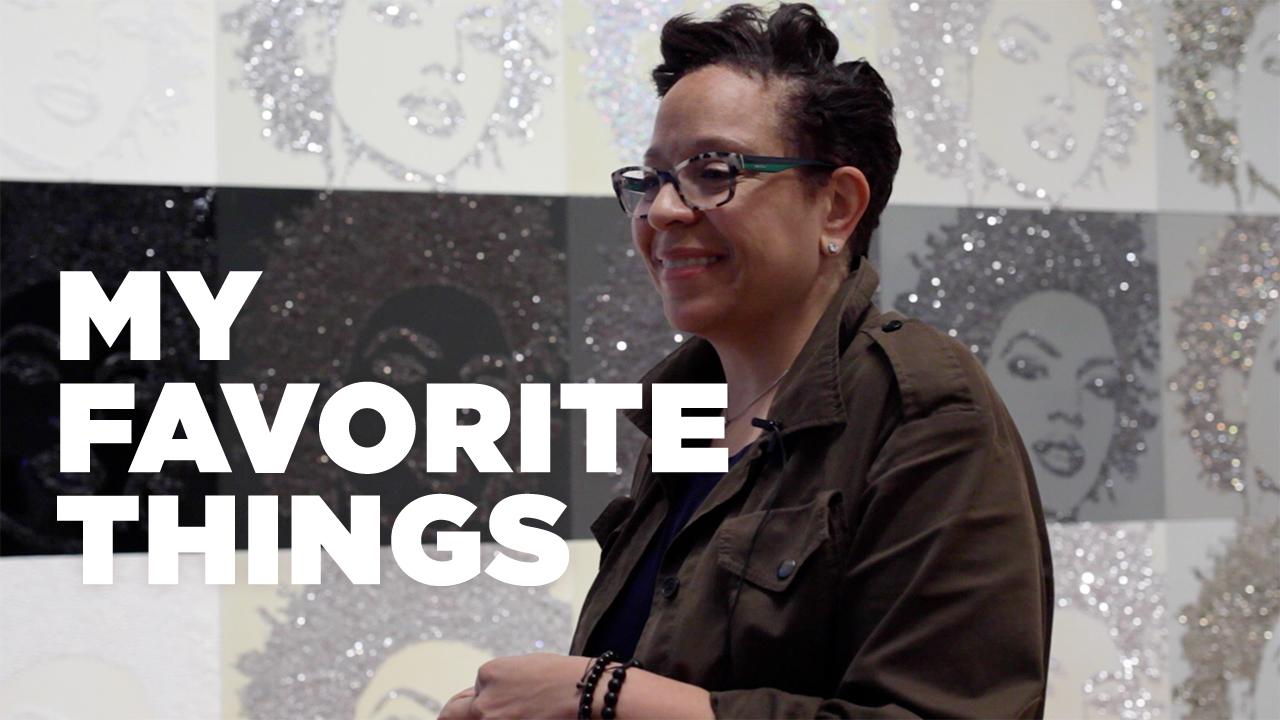 "My Favorite Things: Sandra Jackson-Dumont on Mickalene Thomas' ""Hair Portrait #20"""