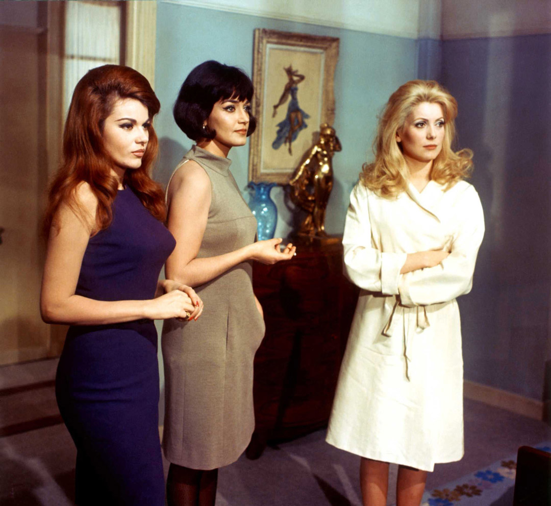 Belle de Jour (France 1967) Directed by Luis Buñuel Shown from left: Macha Meril, Francoise Fabian, Catherine Deneuve