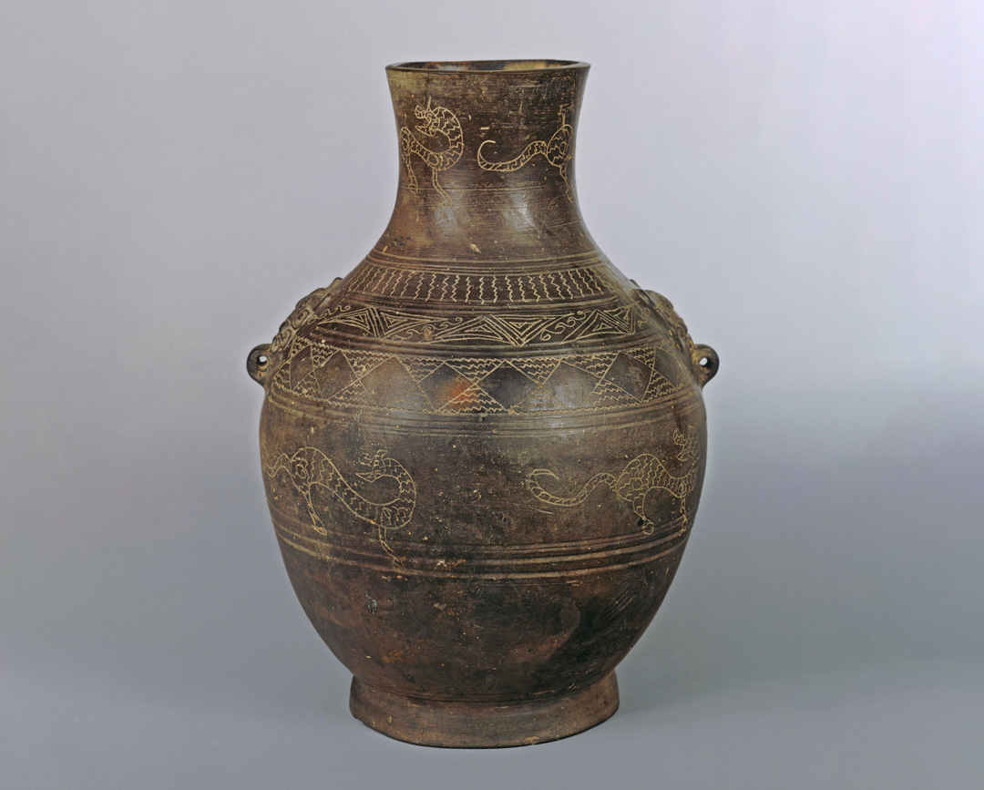Object of the Week: Black pottery vase in shape of hu