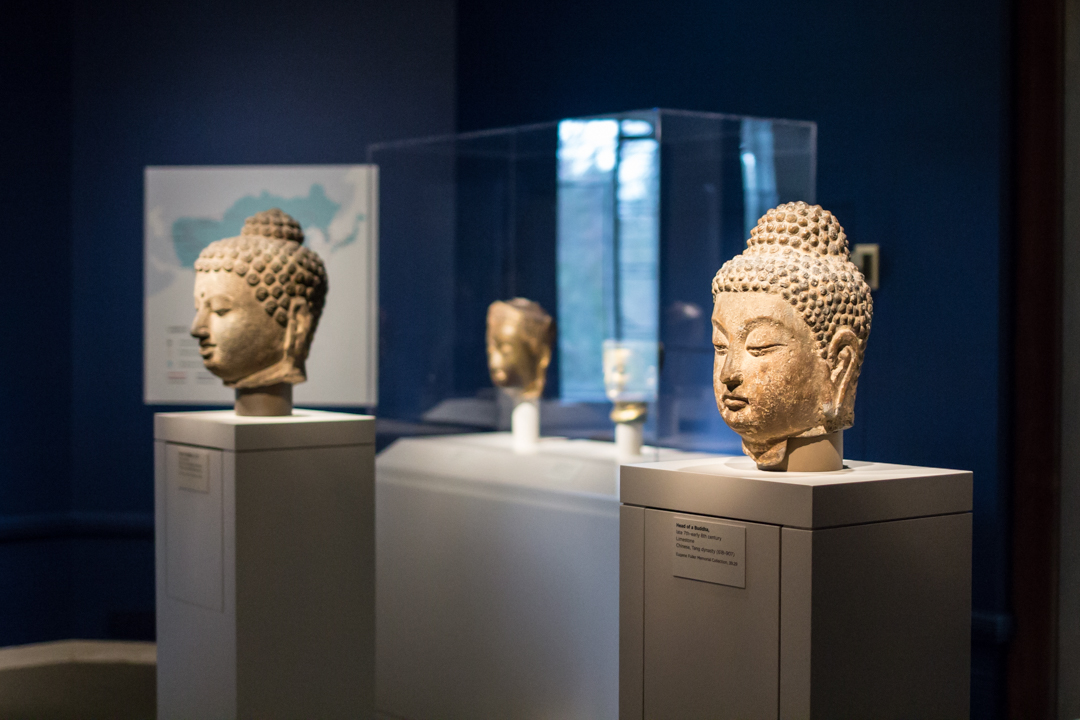Installation view of Awakened Ones: Buddhas of Asia