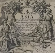 Detail from A New Map of Asia from the Latest Observations: Most Humbly Inscribed to the Right Honbe. George Earl of Warrington, 1721. London: D. Browne. SPCOL G 7400 I710 S4. Donated by Frank Bayley, acquired from the collection of former SAM Curator of Japanese Art, William Jay Rathbun.