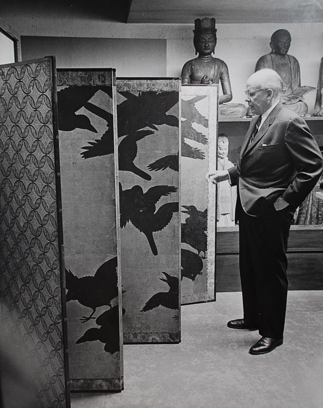 Dr. Fuller in storage with Crows screen