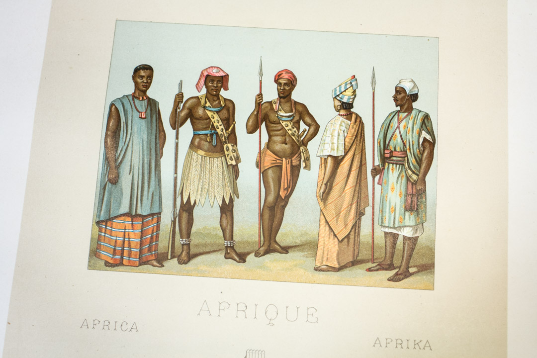 19th-Century European Depictions of Africans: A Book Installation