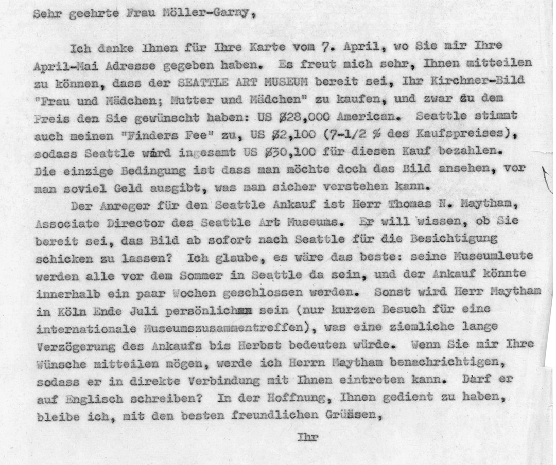 Gordon's letter to Möller-Garny