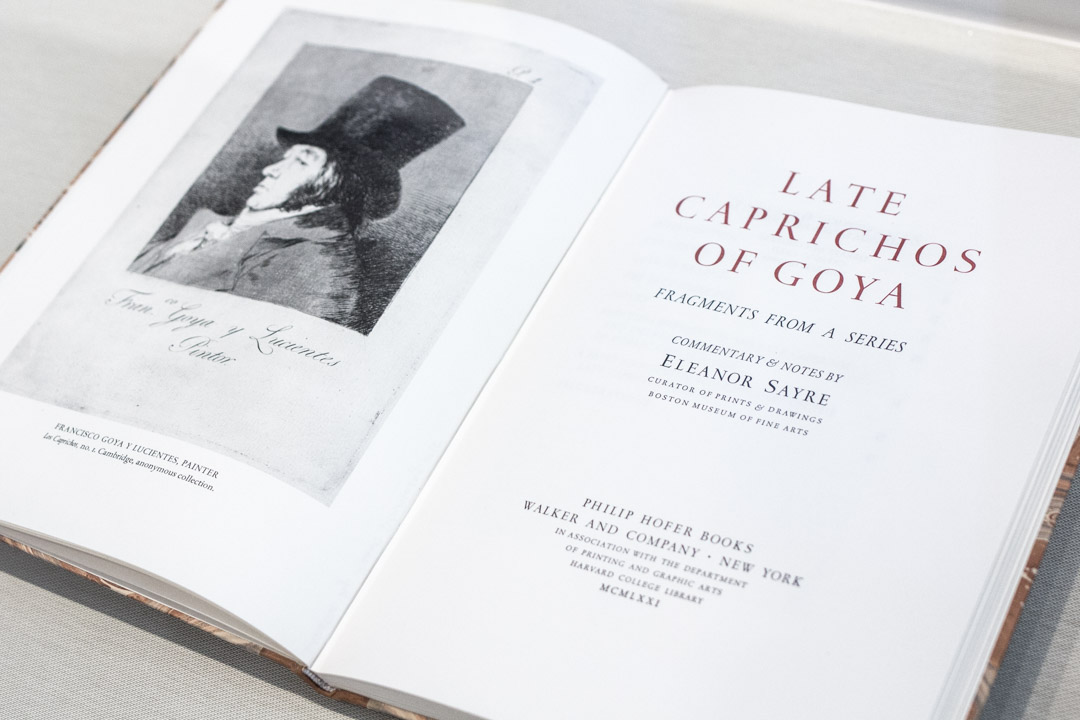 The Late Caprichos of Goya: A Gift to the SAM Libraries