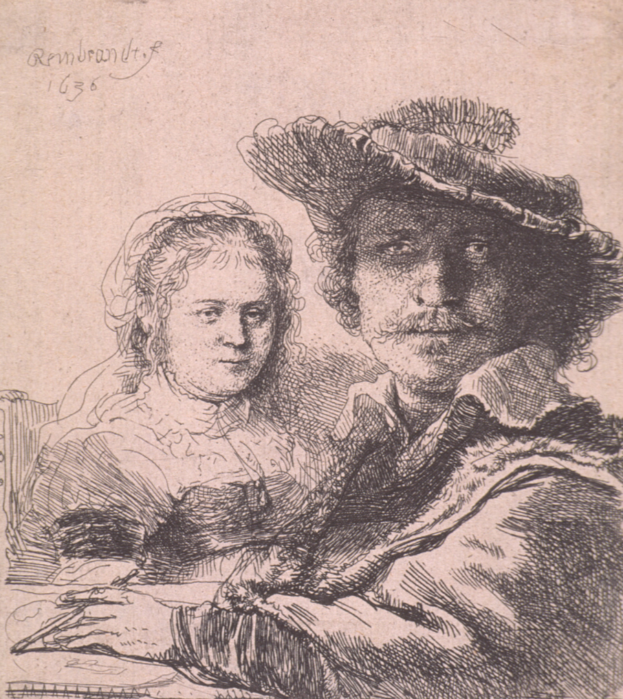 Self Portrait with Saskia by Rembrandt