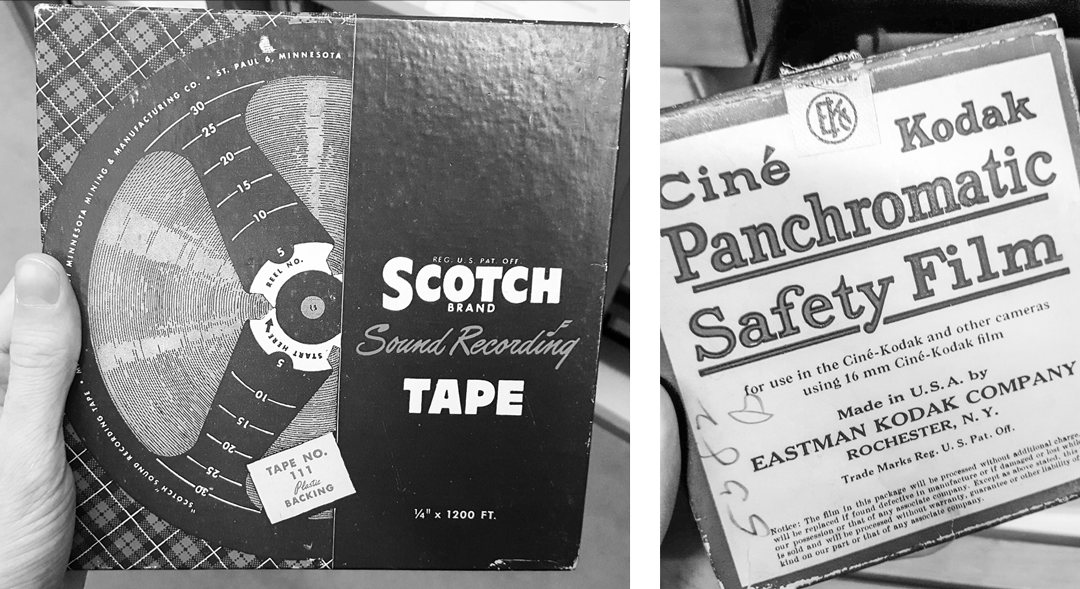 Audio and 16mm film