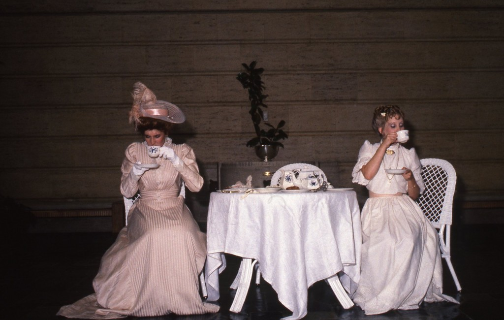 Tea scenes from The Importance of Being Earnest. Performed on August 11th 1985 at Volunteer Park.