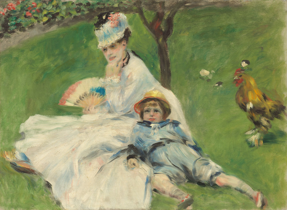 Madame Monet and Her Son by Auguste Renior